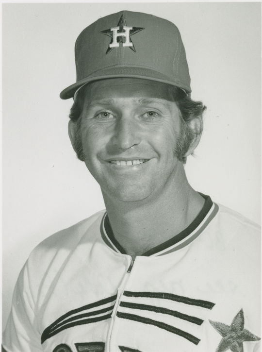 """Tommy Helms was traded to the Houston Astros in 1971 as part of an eight-man deal, that included sending future Hall of Famer Joe Morgan to the Cincinnati Reds. <a href=""""https://collection.baseballhall.org/PASTIME/tommy-helms-photograph-between-1972-1974"""">PASTIME</a> (National Baseball Hall of Fame and Museum)"""