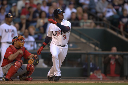 Ken Griffey Jr. played in the 2006 World Baseball Classic and batted .524 with two doubles, three home runs and 10 RBI in six games.  (Brad Mangin / National Baseball Hall of Fame)