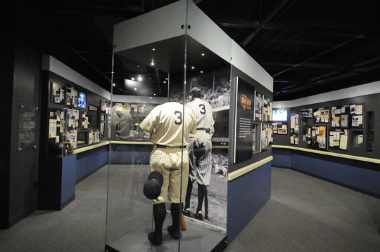 """The baseball from Babe Ruth's final home run is one of over 75 artifacts that are featured in the Hall of Fame's exhibit """"Babe Ruth: His Life and Legend."""" (Milo Stewart, Jr. / National Baseball Hall of Fame)"""