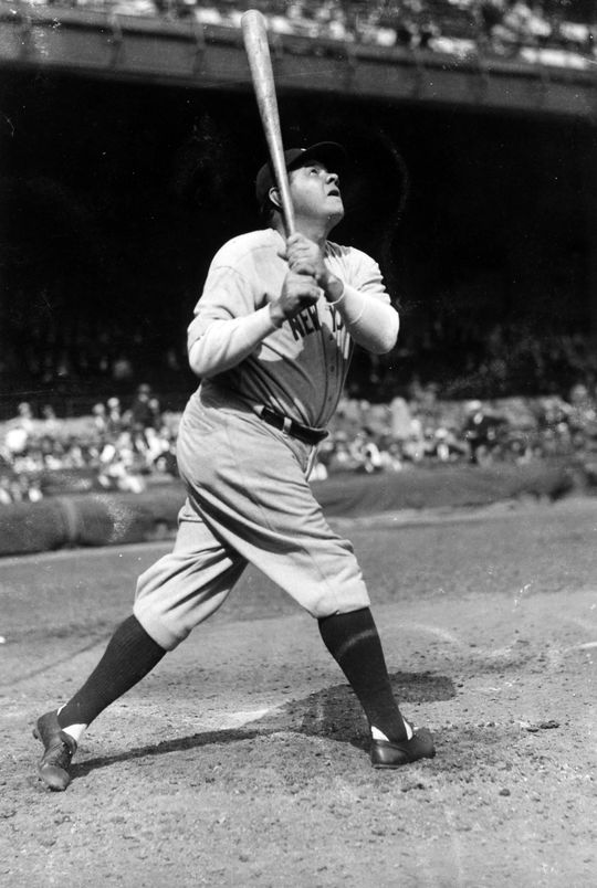 Babe Ruth's exploits on and off the field made him an American icon. He was inducted into the Hall of Fame with the inaugural Class of 1936. (Forrest Yantis/National Baseball Hall of Fame and Museum)