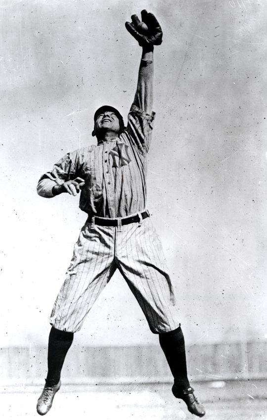 "Gilbert Cooling, who donated his left-handed mitt to the Hall of Fame in 1961, played alongside Hall of Fame Frank ""Home Run"" Baker on semi-professional teams along Maryland's Eastern Shore. (National Baseball Hall of Fame and Museum)"