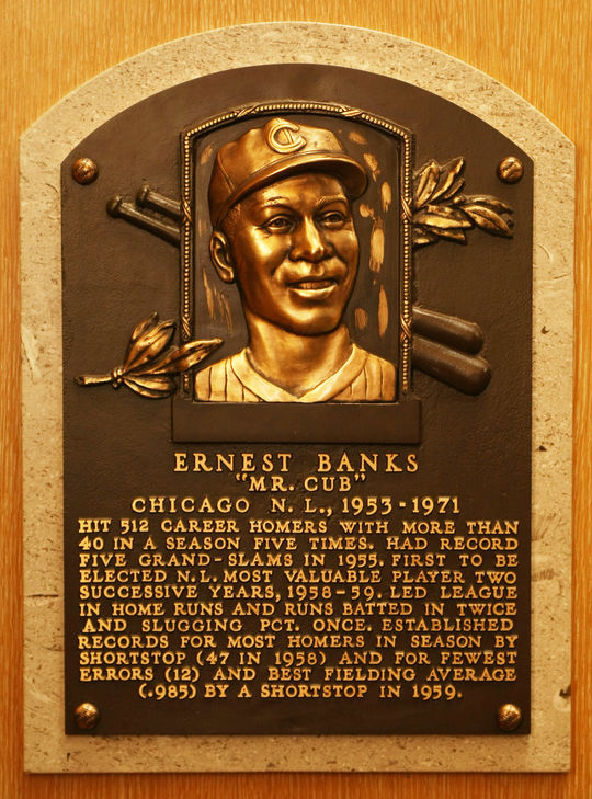 Ernie Banks was elected to the Hall of Fame in 1977. (Milo Stewart, Jr. / National Baseball Hall of Fame)