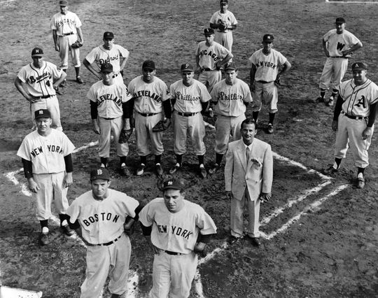 Eddie Lopat's 1953 All-Star Team players in Hawaii and Japan. BL-5562.85