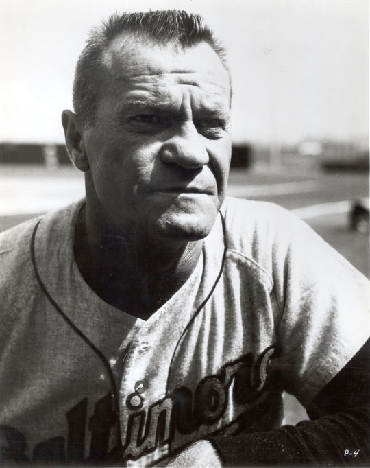 Hank Bauer, pictured above, managed the Baltimore Orioles during their World Championship 1966 season and was responsible for Moe Drabowsky's full-time conversion to the bullpen. (National Baseball Hall of Fame and Museum)