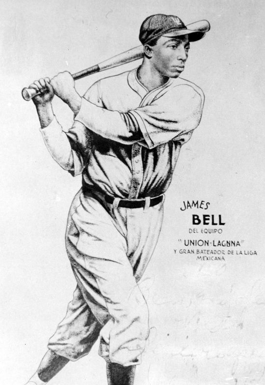"A sketch of Cool Papa Bell, describing him as the ""great batter of the Mexican League."" (National Baseball Hall of Fame)"