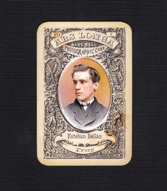 Esteban Bellán appeared in a big league game with the Troy Haymakers of the National Association in 1871, becoming the first native of Cuba to play Major League Baseball. (National Baseball Hall of Fame Library)