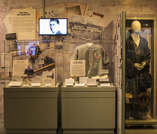 The Museum's new exhibit on Moe Berg's career is located on the second-floor timeline. (Milo Stewart Jr./National Baseball Hall of Fame and Museum)
