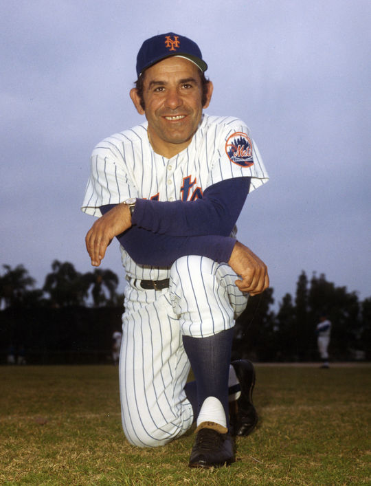 Yogi Berra (pictured above) helped Bud Harrelson hone his hitting skills during his time with the Mets. (National Baseball Hall of Fame and Museum)