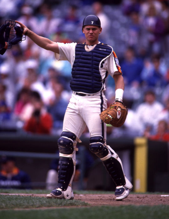 Craig Biggio, who became the Houston Astros' regular catcher in 1989, transitioned to second base in 1992. He would win four Gold Glove Awards at the position. (Rich Pilling / National Baseball Hall of Fame and Museum)