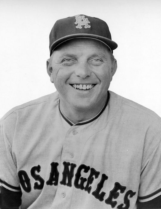 The Angels drafted Ted Kluszewski in the expansion draft, and then used him as part of a platoon with Steve Bilko (pictured above). (National Baseball Hall of Fame and Museum)