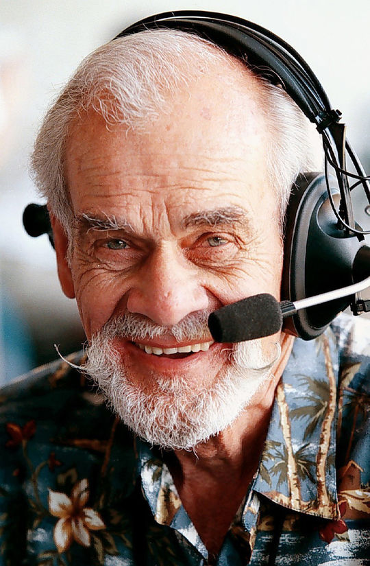 Bill King broadcast Oakland A's games for 25 years from 1981 to 2005 before passing away in October 2005. (Courtesy of Oakland A's)