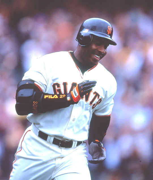 Barry Bonds (pictured above) is an 14-time All-Star, eight-time Gold Glove Award winner and a 12-time Silver Slugger Award winner. (Rich Pilling/National Baseball Hall of Fame and Museum)