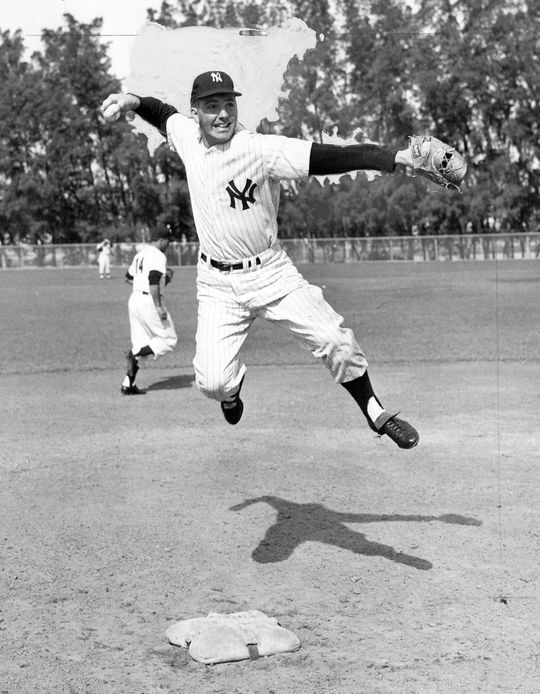 Clete Boyer, pictured above, was a veteran third baseman who prevented Deron Johnson from regularly playing the position when he made his debut with the Yankees in 1960. (National Baseball Hall of Fame)