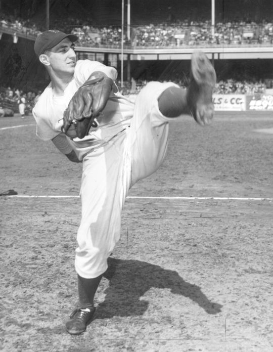 Ralph Branca of the NY Dodgers winding up. BL-1704.68WTa (National Baseball Hall of Fame Library)