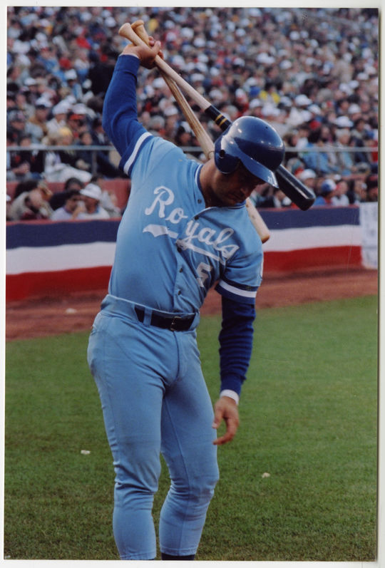 George Brett is the only player to win a batting title in three different decades. His last came in 1990, when he hit .329 at age 37. (Doug McWilliams / National Baseball Hall of Fame Library)