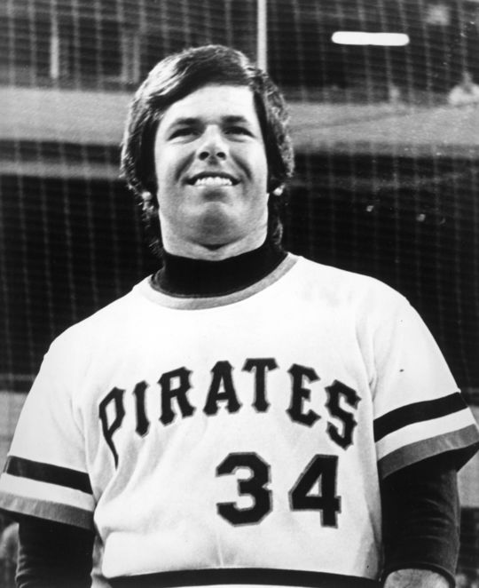 Nellie Briles was close friends with Pirates teammate and Hall of Famer Bill Mazeroski, and attended his Induction Ceremony in 2001. (National Baseball Hall of Fame)