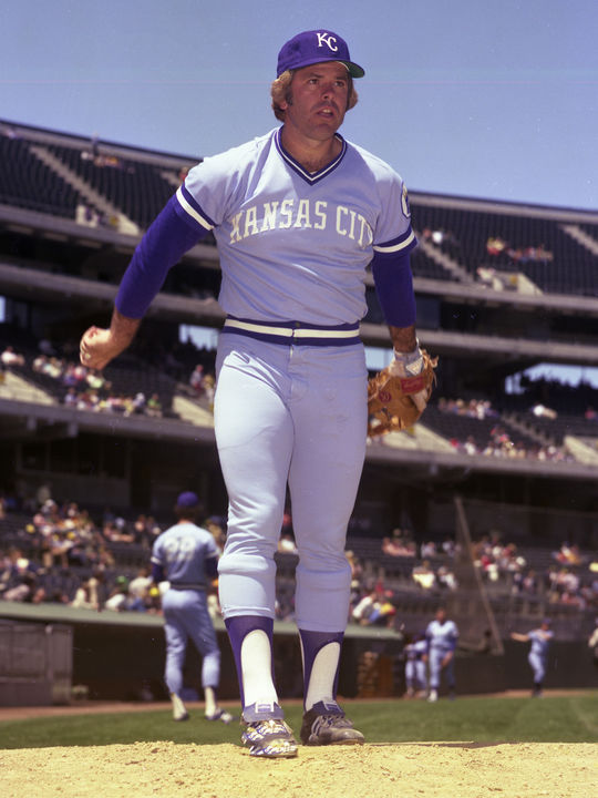 Dave Nelson was traded by the Rangers to the Royals on Nov. 12, 1975, in exchange for pitcher Nelson Briles (pictured above). Nelson played for the Royals for the last two seasons of his big league career. (Doug McWilliams/National Baseball Hall of Fame and Museum)