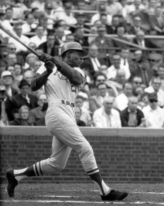 Lou Brock was one of 15 Hall of Famers present for the East-West Major League Baseball Classic, and helped lift the East over the West by hitting a double to left field in the eighth inning. (National Baseball Hall of Fame)