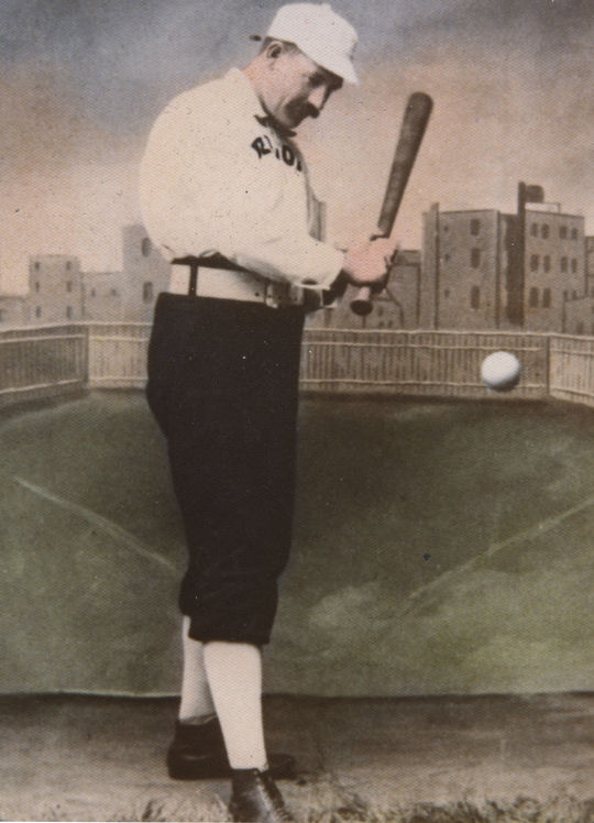 Hall of Fame first baseman Dan Brouthers, pictured here with the Detroit Wolverines, played for 11 teams during his major league career - the most of any Hall of Famer. BL-1935-74 (National Baseball Hall of Fame Library)