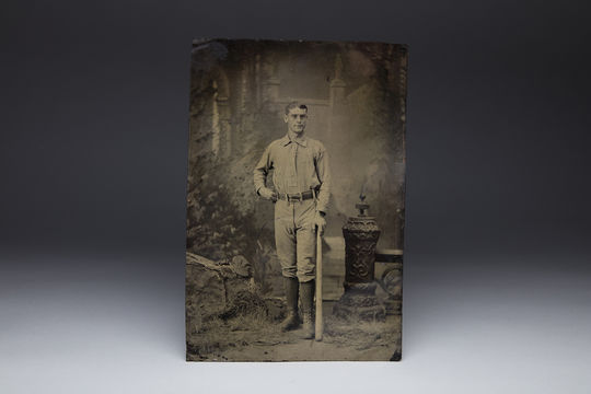 This tintype of Sim Bullas was donated to the Hall of Fame, to join its collection of more than 250,000 images and approximately 10 tintypes. (Milo Stewart Jr. / National Baseball Hall of Fame)