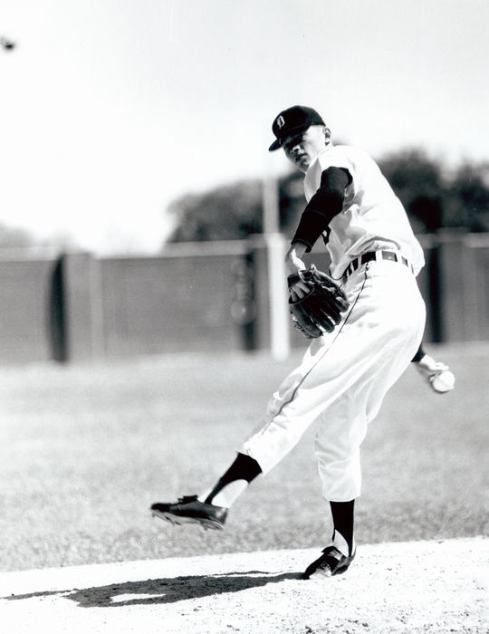 Jim Bunning's 17-year-long major league career began with the Detroit Tigers in 1955. (National Baseball Hall of Fame and Museum)