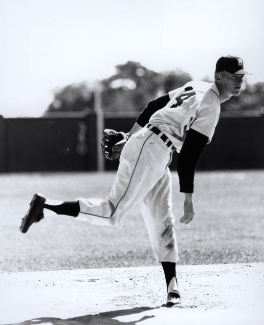 In his early years with the Tigers Phil Regan ranked as the No. 3 starter, behind Hank Aguirre and Hall of Famer Jim Bunning, pictured above. (National Baseball Hall of Fame and Museum)