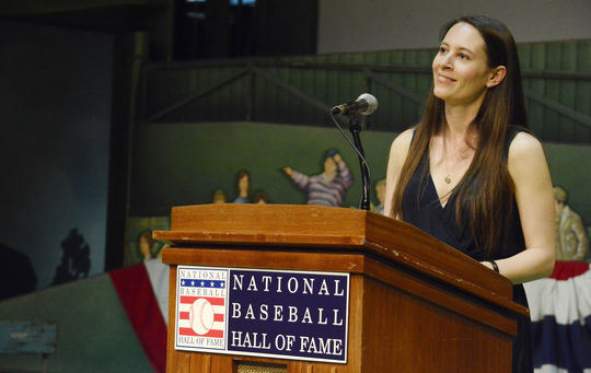 Filmmaker Sarah Burns served as the keynote speaker at the 27th Cooperstown Symposium on Baseball and American Culture in May 2015 at the National Baseball Hall of Fame and Museum. (Milo Stewart, Jr. / National Baseball Hall of Fame)