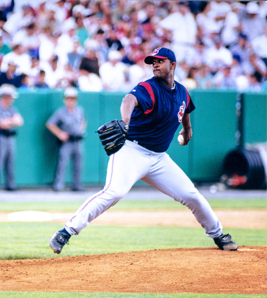 While he was still a minor leaguer with the Indians, CC Sabathia started the 2000 Hall of Fame Game in Cooperstown. Sabathia became the 17th pitcher in big league history to record 3,000 career strikeouts on April 30, 2019. (Milo Stewart Jr./National Baseball Hall of Fame and Museum)