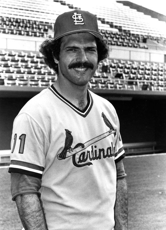 Bernie Carbo of the St. Louis Cardinals, 1973. BL-2151-88 (National Baseball Hall of Fame Library)