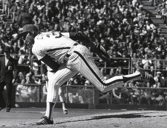 Steve Carlton finished his 24-year career in 1988 with six 20-win seasons and 4,136 career strikeouts (currently fourth on the all-time list). (National Baseball Hall of Fame)
