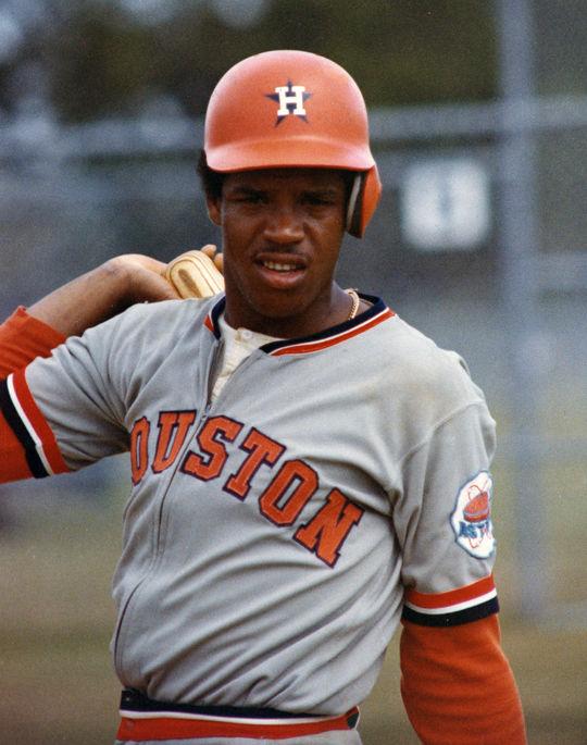 Houston Astros center fielder Cesar Cedeno. BL-8829.89 (National Baseball Hall of Fame Library)