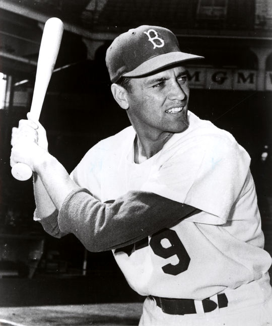 Gino Cimoli of the Dodgers scored the final run in the history of Ebbets Field on Sept. 24, 1957. (National Baseball Hall of Fame and Museum)