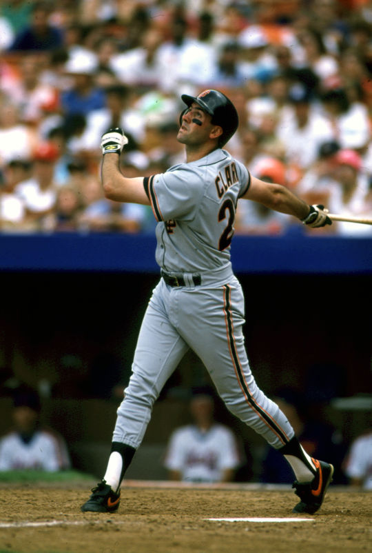 The Giants took Clark with the second overall pick in the 1985 MLB Draft, and he broke camp with the Giants in 1986 as their starting first baseman. He would play for the Giants through the 1993 season.. (National Baseball Hall of Fame)