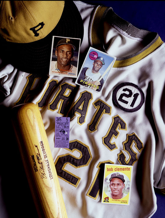 Roberto Clemente was elected to the Hall of Fame in 1973, becoming the first Latin American to earn a place in Cooperstown. (Milo Stewart Jr./National Baseball Hall of Fame and Museum)