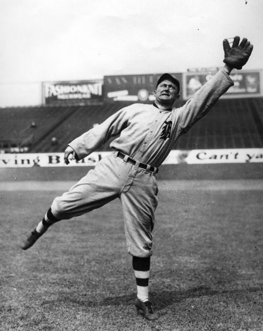 Ty Cobb played for the Detroit Tigers from 1905-1926. (National Baseball Hall of Fame and Museum)