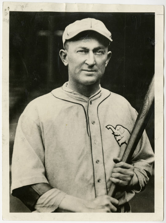 Ty Cobb of the Philadelphia Athletics. B-1173-67 (National Baseball Hall of Fame Library)