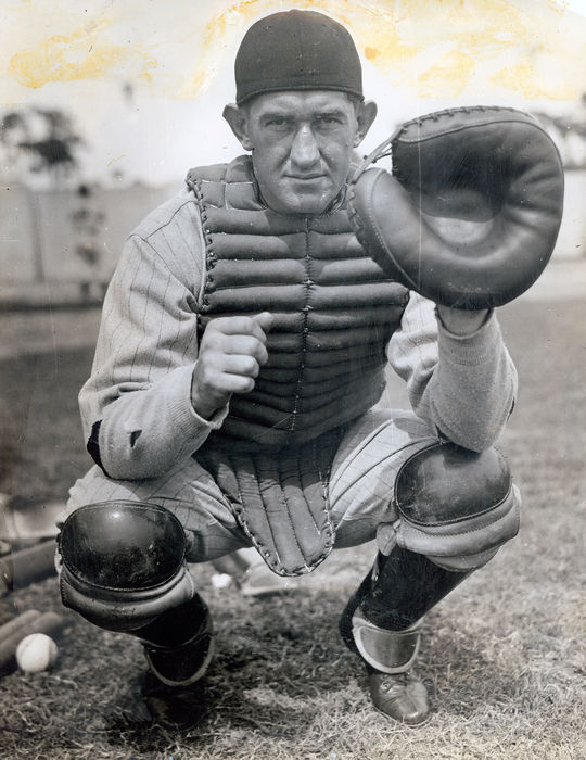Mickey Cochrane played 1,431 games behind the plate for the Philadelphia Athletics and the Detroit Tigers. (National Baseball Hall of Fame and Museum)