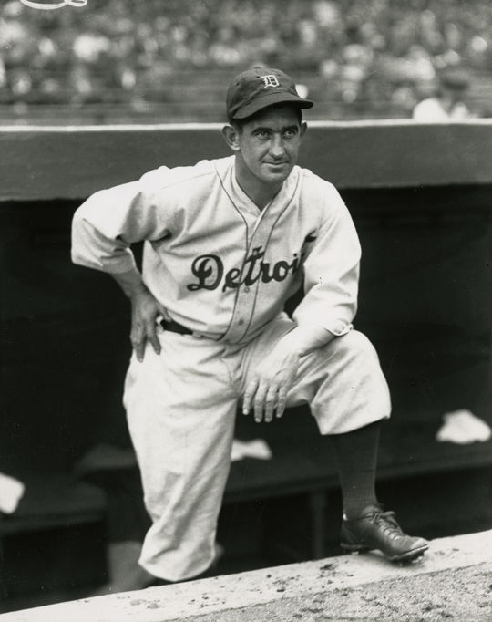 Mickey Cochrane played 13 seasons for the Athletics and Tigers, managing in Detroit from 1934 through 1938. (Charles M. Conlon/National Baseball Hall of Fame and Museum)