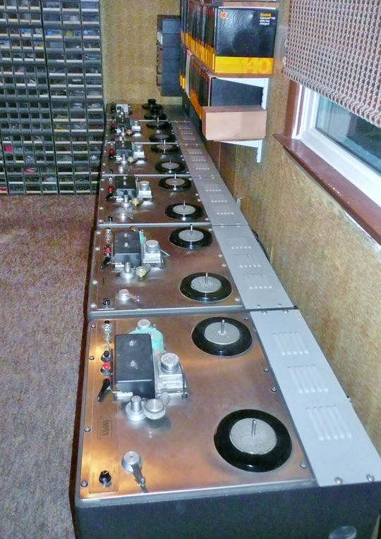 The first thing one sees when they enter DDS Enterprises are these high-speed magnetic tape duplicator machines.