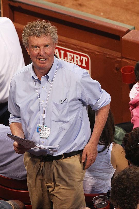 <em>Boston Globe</em> columnist Dan Shaughnessy at Fenway Park. (Stan Grossfeld / <em>The Boston Globe</em>)