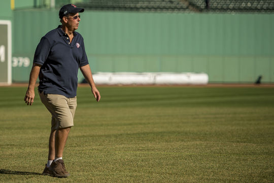 Dave Mellor's groundskeeping career began with the Milwaukee Brewers, and included stints with the Angels, Giants and Green Bay Packers before he was hired by the Red Sox in 2001. (Billie Weiss/Boston Red Sox)