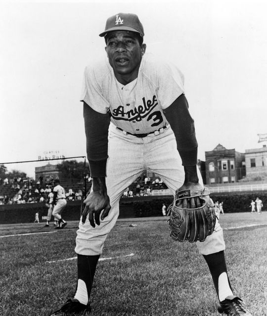 Willie Davis, who played for the LA Dodgers for 15 years, hit a solo home run during the 1961 Hall of Fame Game. BL-1774.99 (National Baseball Hall of Fame Library) ..