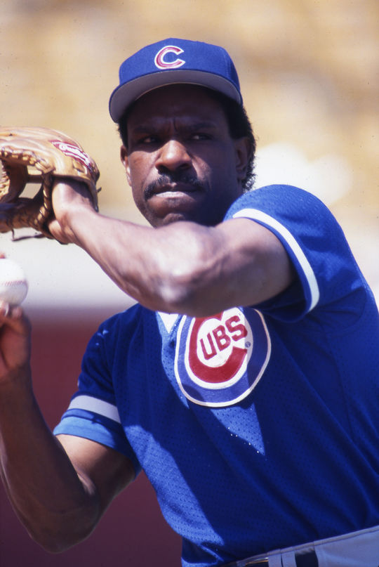 In six seasons with the Cubs from 1987-92, Andre Dawson earned five All-Star Game selections, won two Gold Glove Awards and was named the 1987 National League Most Valuable Player. (John Cordes/National Baseball Hall of Fame and Museum)