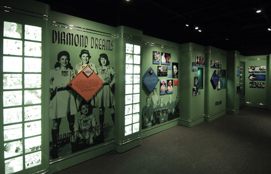 The Hall of Fame's <em>Diamond Dreams</em> exhibit opened to the public in 2006 on the Museum's second floor. (Milo Stewart Jr./National Baseball Hall of Fame and Museum)