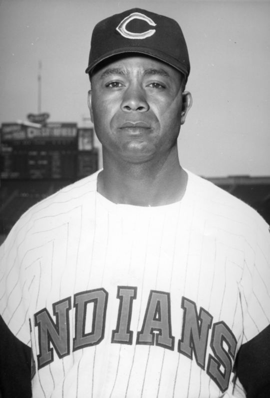 Larry Doby, who became the first African-American player in American League history when he debuted with the Cleveland Indians on July 5, 1947, was elected to the Hall of Fame in 1998. (National Baseball Hall of Fame and Museum)