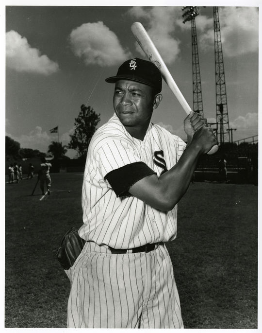 The White Sox traded away starting outfielder and future Hall of Famer Larry Doby in 1958, which opened up center field for Jim Landis.  (Don Wingfield/National Baseball Hall of Fame and Museum)