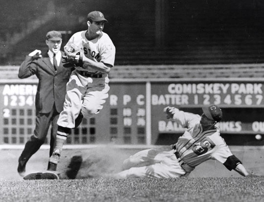 Bobby Doerr said that playing second base came natural to him, ever since he was a young boy catching fly balls off of his roof. (National Baseball Hall of Fame and Museum)