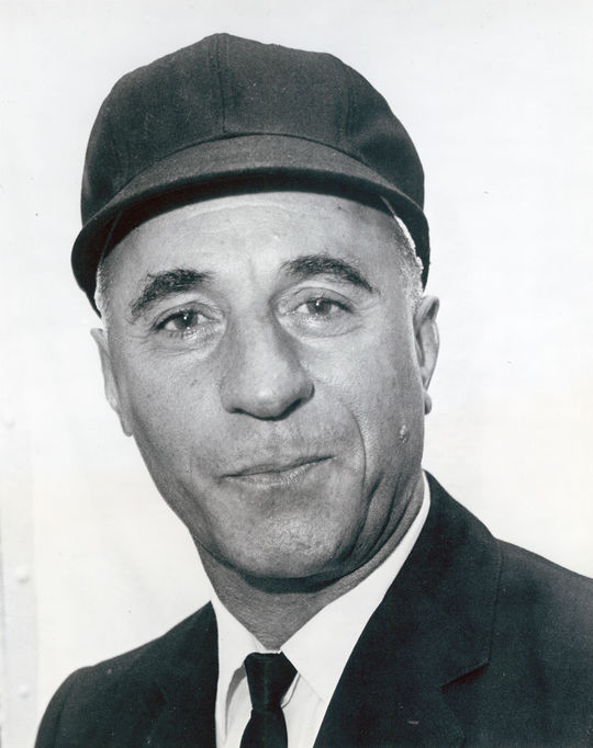 Augie Donatelli was held in a Prisoner of War camp for 15 months in Nazi Germany during World War II. (National Baseball Hall of Fame)