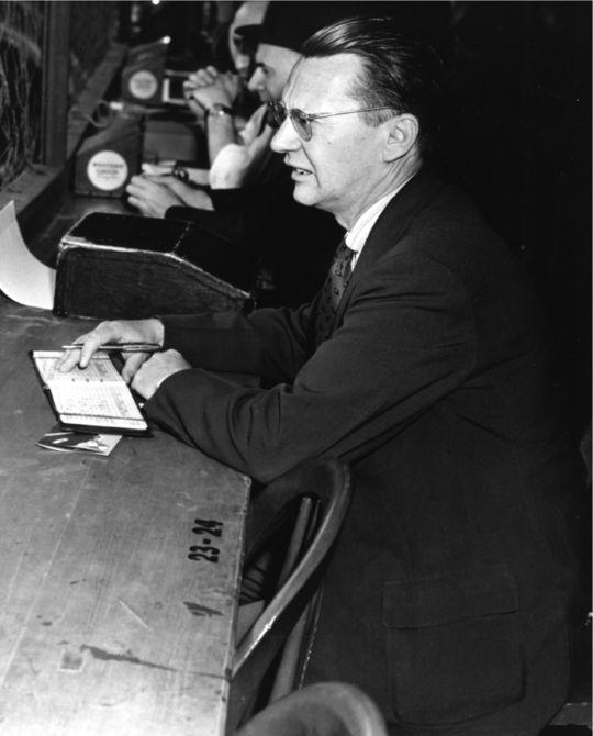 1973 J.G. Taylor Spink Award Winner John Drebinger (National Baseball Hall of Fame Library)