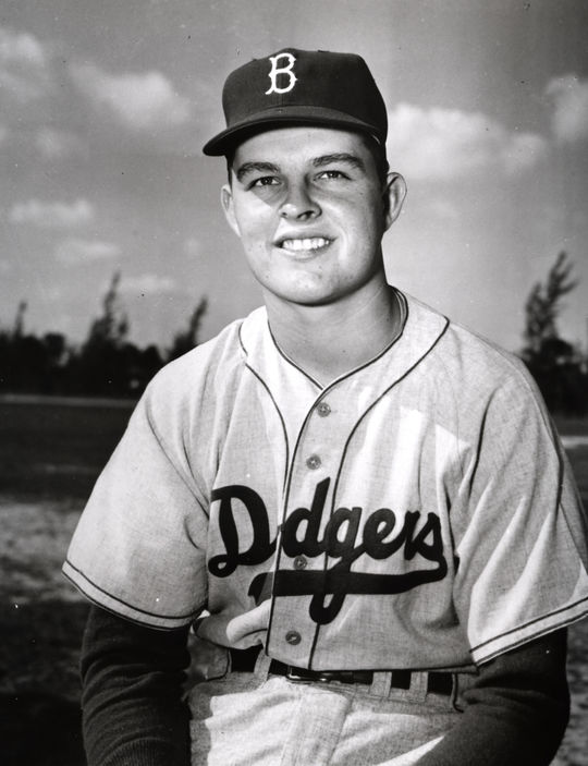 Don Drysdale was a second baseman for his American Legion team in Van Nuys, Calif., until he took the mound one day when his team needed a pitcher. He threw a shutout, and the rest was history. BL-737-76 (National Baseball Hall of Fame Library)